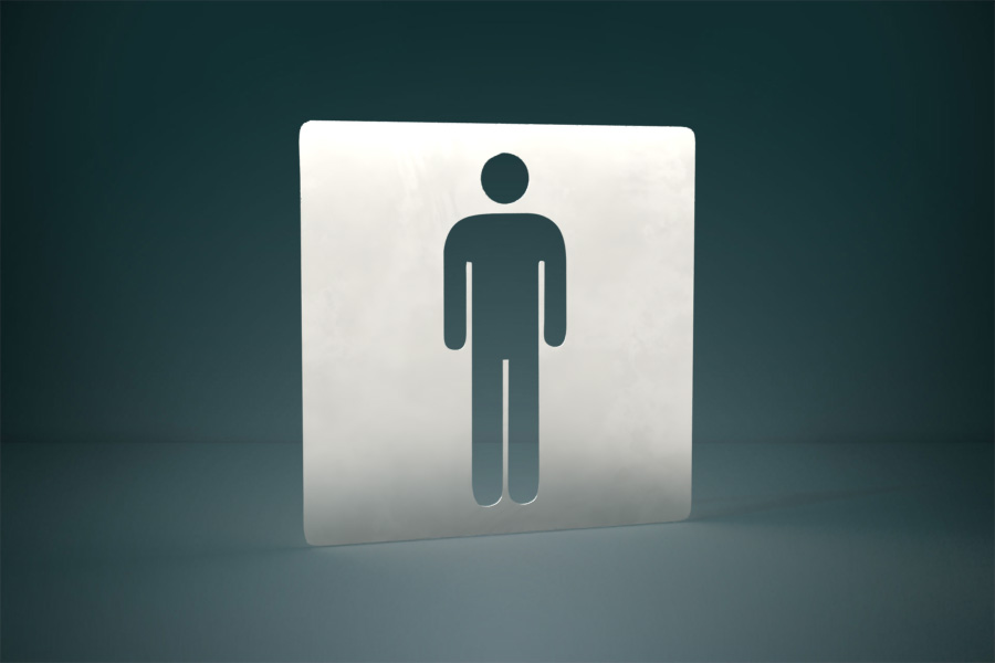 Piktogram toalety męskie