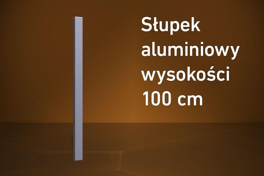 Słupek aluminiowy HD 100 cm